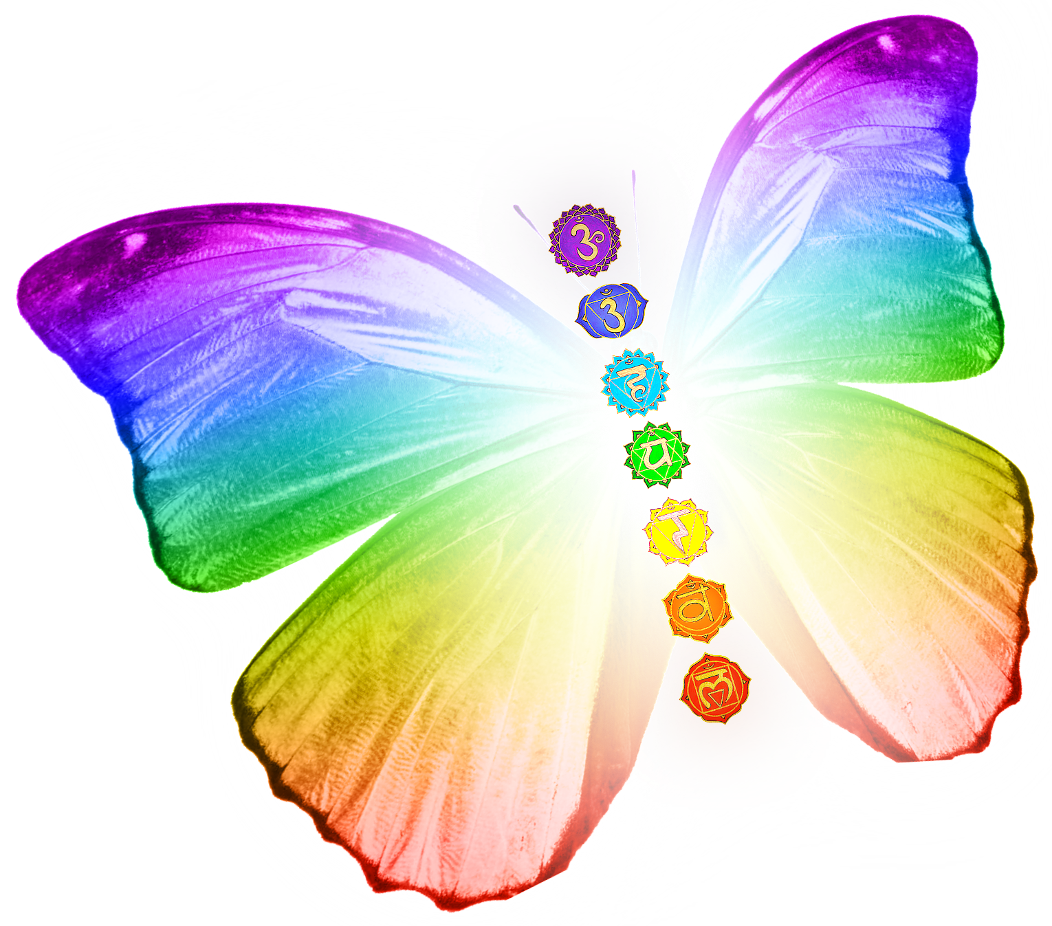 Transformational Butterfly with Chakras